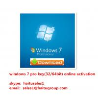 Windows 7 Professional OEM / FPP Key For Windows 7 Product Key Codes Activated Verified Online Manufactures