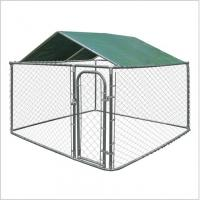 Galvanized Heavy Duty Chain Link Dog Kennels Durable 10'L*10'L*6'H Size Manufactures
