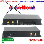 DVB-T240 4 x 4 Siano Tuner Diversity Antenna Car dvb-t2 digital receiver Manufactures