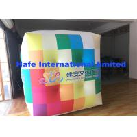 2.5m PVC Cube Helium Balloon Lights With Full Logo Printing Flying For Advertising for sale
