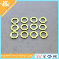 Gold Anodized Gr2 And Gr5 Titanium Plain Washer Manufactures