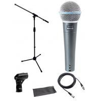 Shure Beta 58a Microphone Bundle with Mic Boom Stand and XLR Cable DMS003-KIT Manufactures
