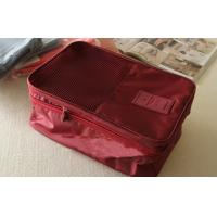 Red Large Size Travel Packing Organisers Inner Net Pocket Embroidery Printing Manufactures