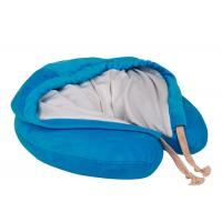 Hooded Memory Foam Neck Pillow U Hoody Travel Cushion With Carrying Case Manufactures