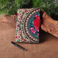 Customize Embroidered Logo Notebooks with leather snap closure as best souvenir gift Manufactures