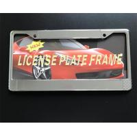 Simple Custom License Plate Frames Cover Zinc Alloy Material 315 X 150 Mm Size Manufactures