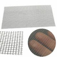 China Stainless Steel Square Wire Mesh Woven Cloth Cylinder Filtering Plain Twill Dutch Weave on sale