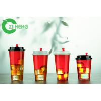20 Oz 600ml Clear Disposable Plastic Cups With Lids For Ice Cream Eco Friendly Manufactures
