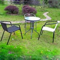 Outdoor Leisure Table and Chair, Made of Steel Tube, Chair Measures 52 x 61 x 74cm Manufactures