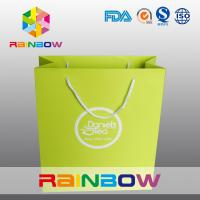 Recycled Square Bottom Customized Paper Bags / Printed Paper Shopping Bags Manufactures