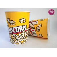 32oz Single Wall Double PE Disposable Popcorn Buckets / Flexo Print Manufactures