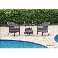 Quality Outdoor Rattan Chairs With Table Bistro Set , Rattan Wicker Patio Furniture for sale