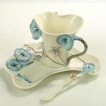 Bone China CCG006(Blue) Coffee Cups Manufactures