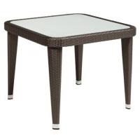 Outdoor furniture teak top side table--16082 Manufactures