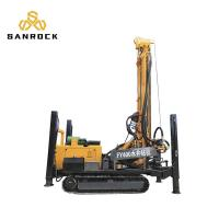 China 400m Depth Mobile Crawler Drilling Rig Rotary Dth Drilling Machine For Water Well on sale