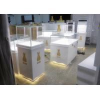 Retail Shop Museum Display Cases High Glossy White Color 12V Output Power Manufactures