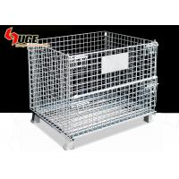 China 5.8mm Diameter Steel Wire Containers / Wire Mesh Storage Cages For Factory With Forklift Trucks on sale