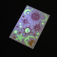 Adults Glow In The Dark Temporary Tattoos Stickers Waterproof Mixed Pattern Manufactures