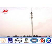 Steel Material 30 Meter Mono Pole Tower , Q345 Monopole Transmission Tower Manufactures
