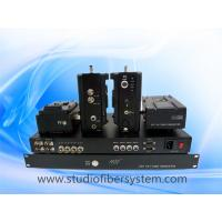 4 Camcorders to 1 basestation studio camera mountable Fiber Optic System Manufactures