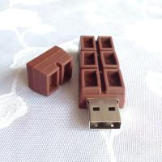 Portable Customized USB Flash Drive / High Speed usb 2.0 chocolate usb thumb drive Manufactures