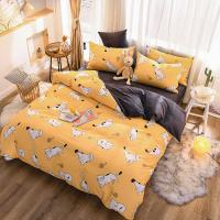 China AB Side Bedding Set A Cotton B Flannel Velvet Duvet Cover Bed Sheet Pillowcases 3/4pcs Thick Comforter Cover Set on sale