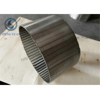 Wire Wrap Wound Johnson Stainless Steel Well Screens For Water Well Manufactures