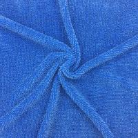 China Microfiber Twist Pile Fabric 450gsm Blue Mop Fabric Cleaning Fabric on sale