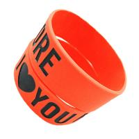 Custom texts & logo rubber Sports Silicone Bracelets for promotion gifts Manufactures