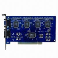 H.264 CCTV DVR Card with 4 to 16-channel Video Input, Supports PTZ and Alarm Control Manufactures