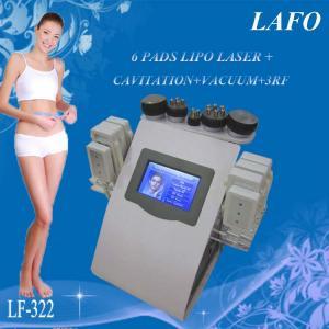 China 6 in 1 portable vacuum rf cavitation laser lipo slimming machine on sale