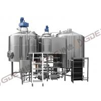 Quality Commercial Beer Brewing Equipment , Stainless Steel 40 BBL Brewhouse Steam for sale