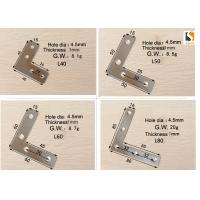 Silver Color Sign Making Tools , L Shape Aluminum Profile Interior Corner Connector Joint Bracket Manufactures