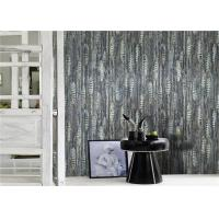 Fashion PVC Modern Removable Wallpaper , Vinyl Grey And White Wallpaper Manufactures