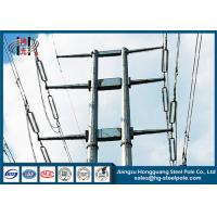 Q345 Overlap Type Conical Tapered Pole With Climbing Ladder Waterproof Manufactures