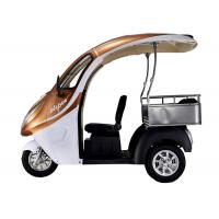 Lead Acid Battery Dual Passenger Electric Tricycle , 60V800W Motor Electric Tricycle Car Manufactures
