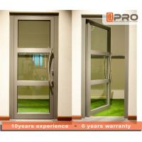 China Single Pane Internal Aluminium Glass Doors For Residential House Color Optional on sale