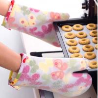 Transparent Silicone Cooking Gloves , Silicone Heat Gloves Butterfly Pattern Manufactures