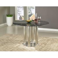 Black Marquina Marble Top Round Dining Table For Lounge Room Dia1200*750mm Manufactures