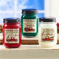 China Colorful Soy Wax Wood Wick Scented Jar Candle Clear Glass Candle Jars With Metal Lid on sale