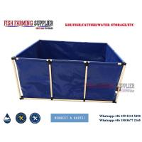 China PVC Foldable and Portable Live Fish Temperary Storage Tanks on sale