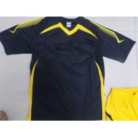 Customized S 100% polyester Soccer Team Apparel Black Soccer t Shirts Manufactures