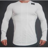 China Simple Pattern Mens Long Sleeve Sports Top 4 Way Stretch Fabric Easy Movement on sale