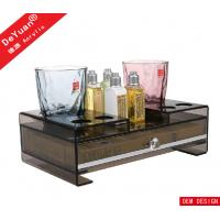 Luxury Stars Hotel Amenities Acrylic Display Stands / Plastic Tray Manufactures