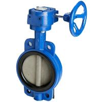 worm gear operated wafer concentric soft sealing butterfly BKVALVE valve