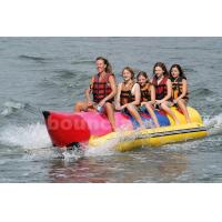 Inflatable Banana Boat For 5 Persons , Inflatable Towable Water Tube Manufactures