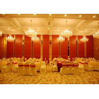 Red Sliding Folding Partitions Movable Walls For Exhibition Place Manufactures