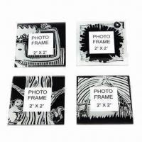 Photo Coaster with One Color Printed Design Manufactures