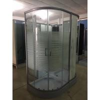 Horizontal Stripe 5m Door Thickness Tempered Glass Corner Shower Cabin 90 x 90 x 200 / Cm Manufactures