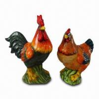 Ceramic Garden Decoration in Chicken Design, OEM Orders are Accepted, Meets CPSIA and EN71 Standards Manufactures